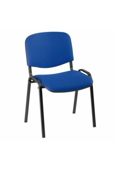 Silla oficina conferencia eco 4 patas azul