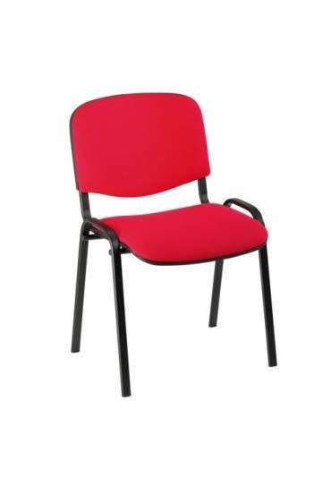 Silla oficina conferencia eco 4 patas rojo