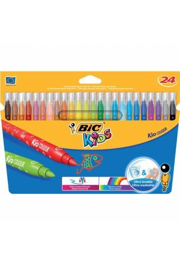 Rotuladores Bic kids ultra lavables 24 colores