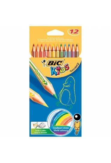 Caja 12 lapices colores Bic Kids Tropicolors 2