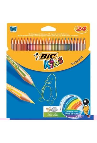 Caja 24 lapices de colores Bic Kids Tropicolors 2