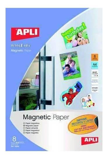Papel magnetico 640gr A4 carpeta 8 hojas