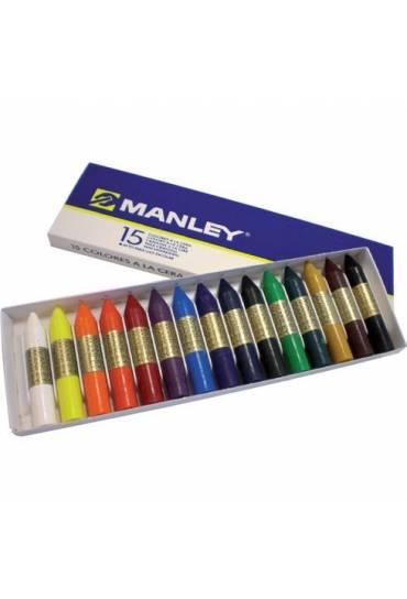 Caja 10 ceras blandas Manley