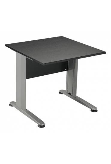 Mesa start plus 80 cm negra pata metal aluminio