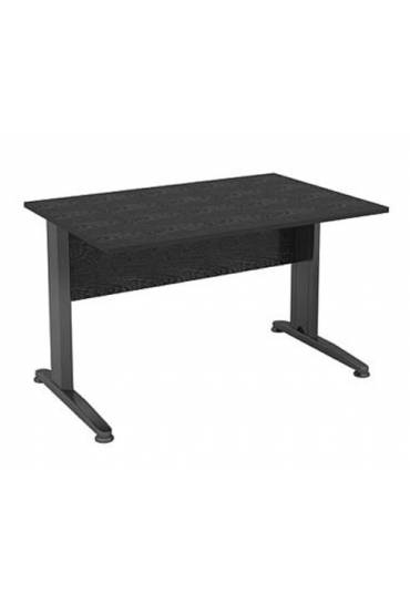 Mesa start plus 120 cm negra pata metal antracita