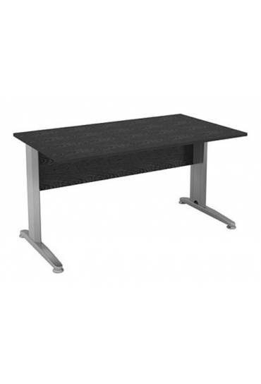 Mesa start plus 140 cm negra pata metal aluminio