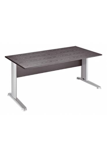 Mesa start plus 160 cm negra pata metal aluminio