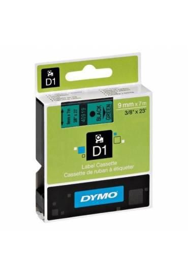 Cinta Dymo D1 9 mm x 7m negro sobre verde 40919