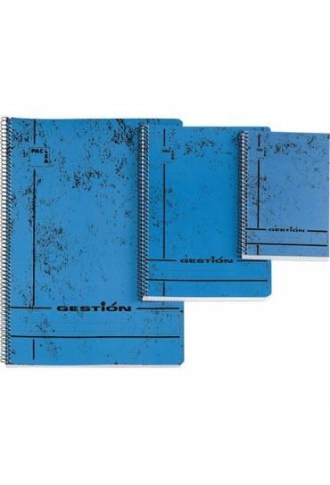 Cuaderno tapa blanda azul folio 80h Gestion Pacsa