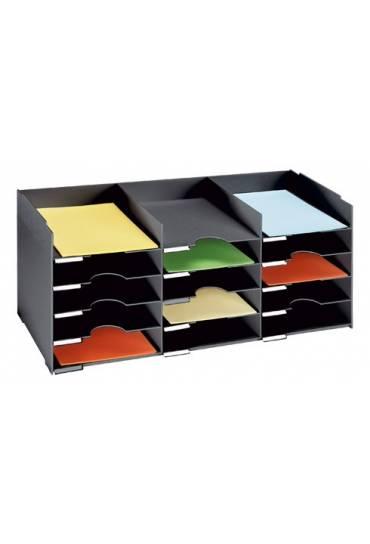 Clasificador 15 separadores ancho 83 cm negro