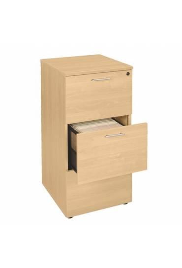 Archivador madera haya 3 cajones carpetas colgante