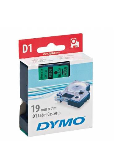 Cinta Dymo D1 19Mm X 7M negro sobre verde 45809