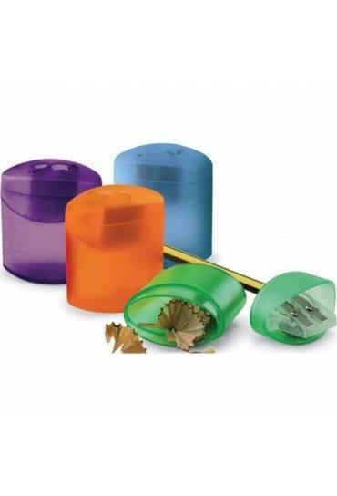 Afilalapiz doble plastico con deposito