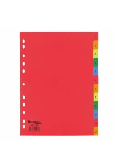 Separadores PP A4 numerico 1-12 colores
