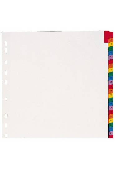 Separadores PP A4 numerico 1-31 colores