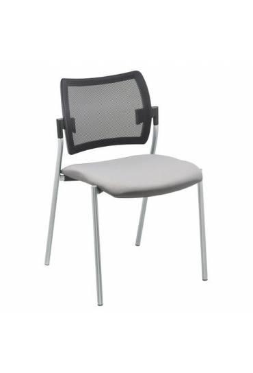 Silla yota gris respaldo Malla patas Aluminio