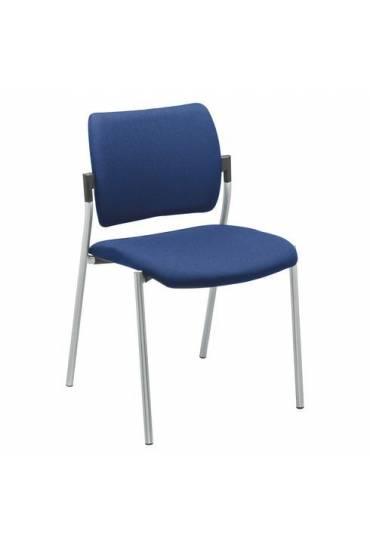 Silla yota azul respaldo tejido patas Aluminio