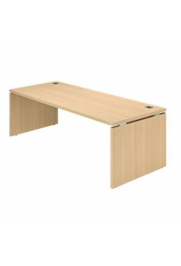Mesa Shiny patas madera 200x90 roble