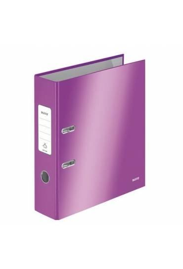 Archivador Leizt wow forrado A4 80 mm violeta