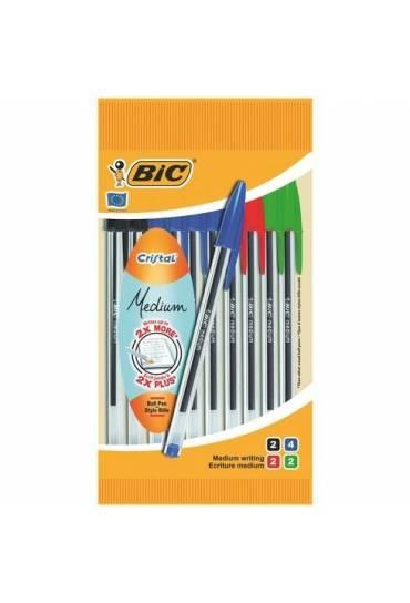 Bolígrafos Bic Cristal Bolsa 10