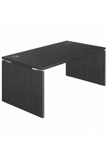 Mesa Shiny patas madera 160x90 negra