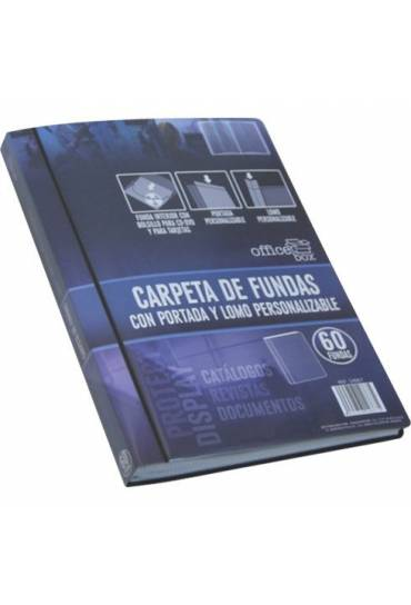 Carpetas 30 fundas personalizables negro Officebox