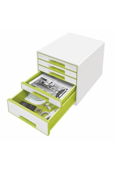 Organizador Modulo 5 cajones wow blanco verde