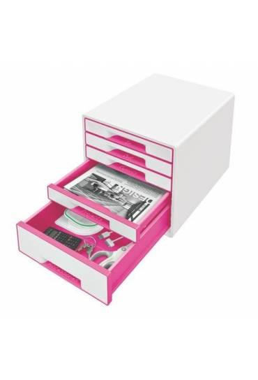 Organizador Modulo 5 cajones wow blanco-rosa