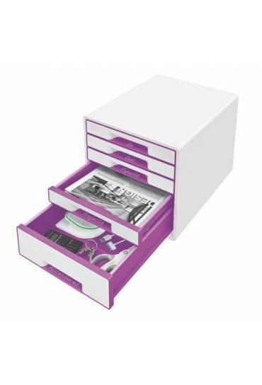 Organizador Modulo 5 cajones wow blanco violeta