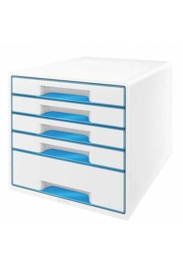 Organizador Modulo 5 cajones wow blanco azul