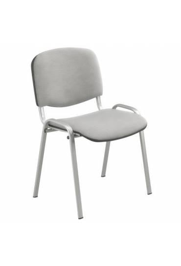 Silla conferencia gris patas aluminio