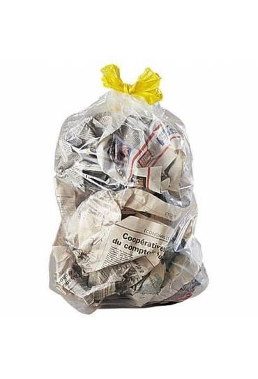 Bolsas basura transparente autocierre 30l 100 unid