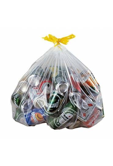 Bolsas basura transparente  autocierre 50l 100 uni