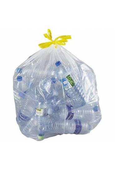 Bolsas basura transparente autocierre 100l  100 un