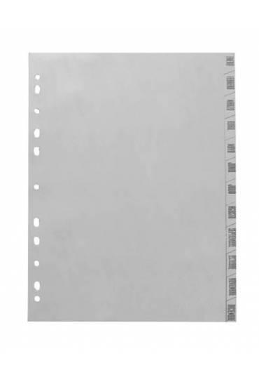 Separador mensual polipropileno gris A4