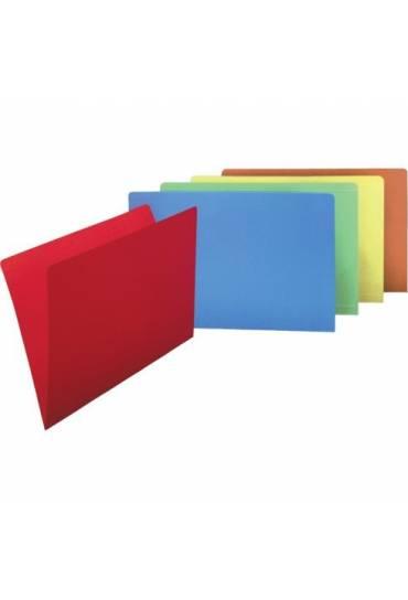 Subcarpetas 250 gramos  folio naranja  50 unidades