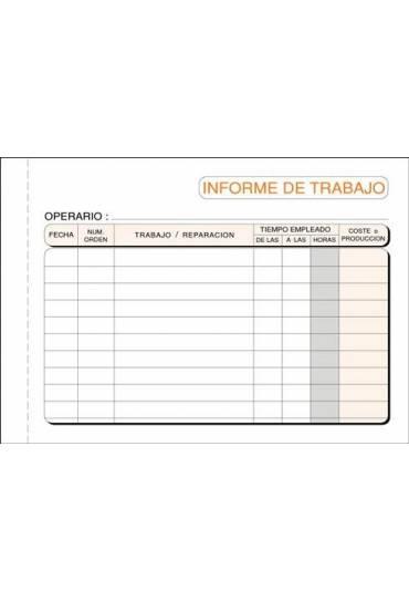 Talonario informe diario de trabajo 150x105
