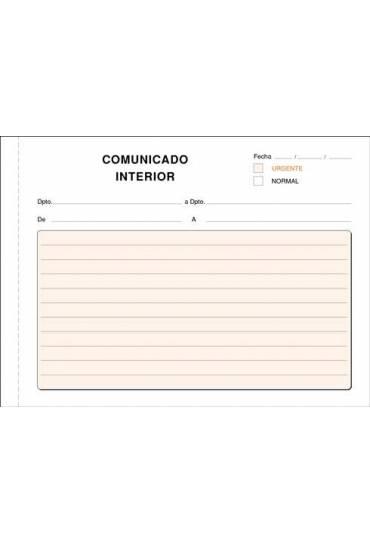Talonario comunicacion interior