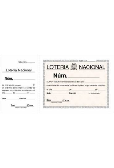 Talonario loteria 210x105