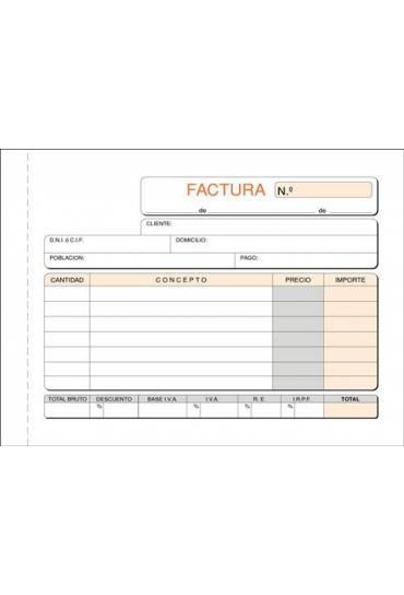 Talonario factura 150x105 mm duplicado apaisado