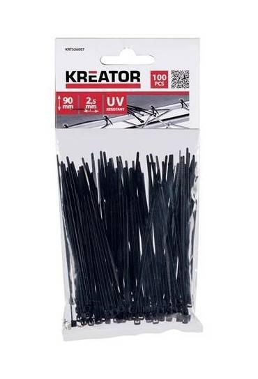 100 bridas plasticas negro 2.5x90