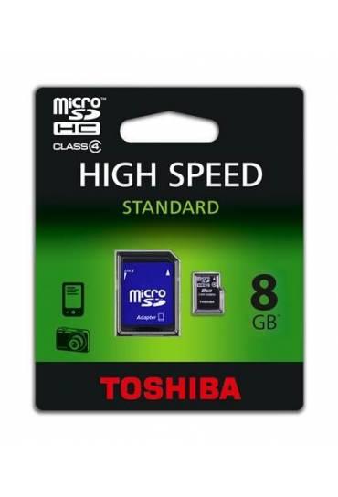 Tarjeta memoria Toshiba micro SD con adaptador 8gb