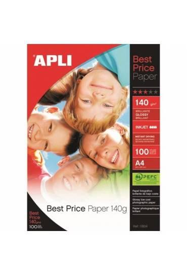 Papel fotografico Apli 140 g inkjet Best Price A4