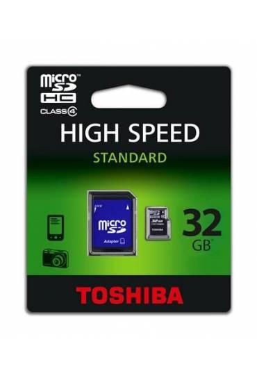 Tarjeta memoria Toshiba 32GB microSD con adaptador