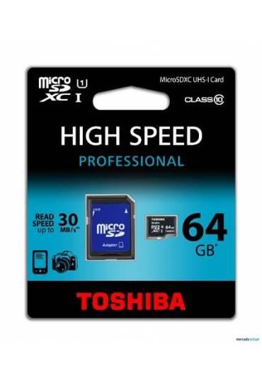 Tarjeta Toshiba flash micro sd classe 10 64gb