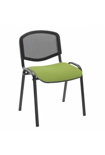 Silla conferencia malla verde 4 patas