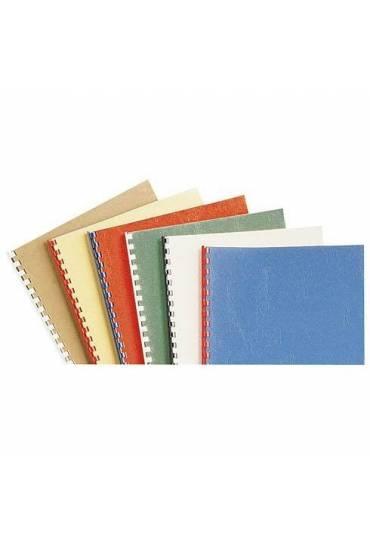 Tapas cartón 270g simil piel 100 unidades Azul