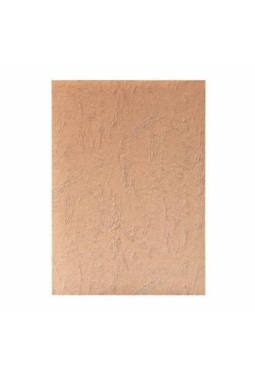 Tapas cartón 270g simil piel 100 unidades Marrón