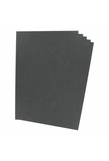 Tapas cartón 270g simil piel 100 unidades Negro