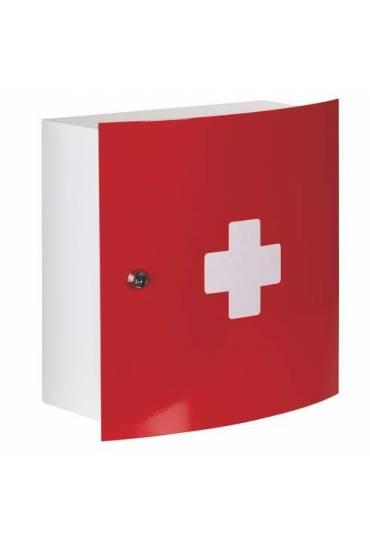 Botiquin metalico puerta roja 32x32x15